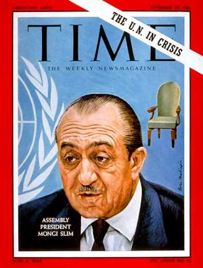 Time - Mongi Slim - Sep. 29, 1961 - United Nations - Diplomacy