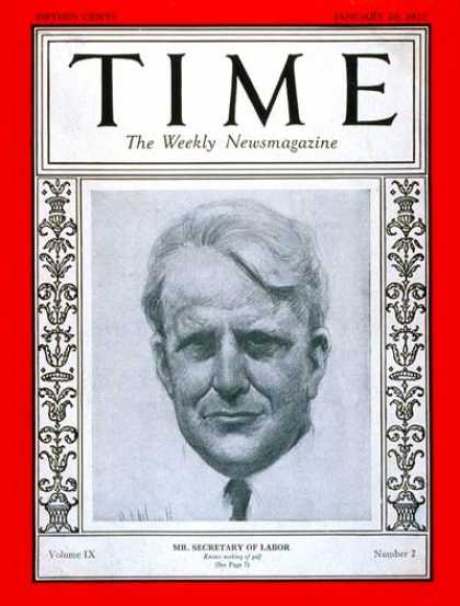 Time - James J. Davis - Jan. 10, 1927 - Politics