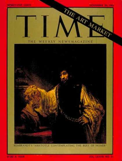 Time - Rembrandt's Aristotle - Nov. 24, 1961 - Painters - Art