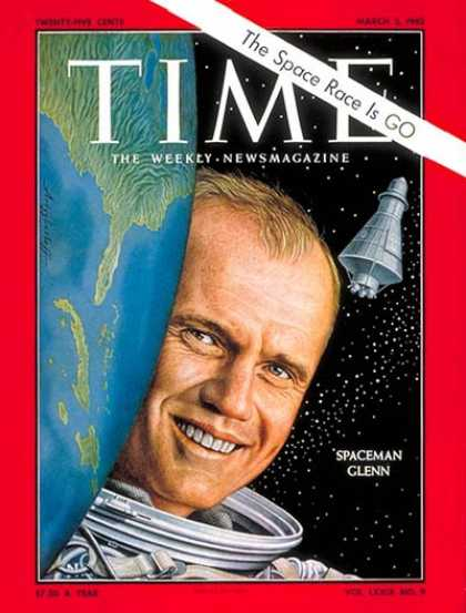 Time - John Glenn - Mar. 2, 1962 - NASA - Astronauts - Most Popular - Space Exploration
