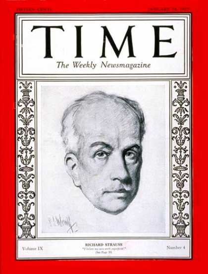 Time - Richard Strauss - Jan. 24, 1927 - Composers - Classical Music - Music