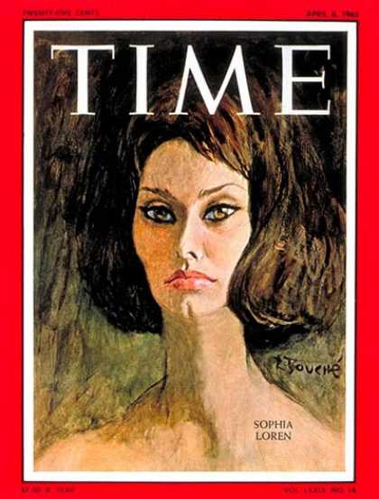 Time - Sophia Loren - Apr. 6, 1962 - Actresses - Most Popular - Movies