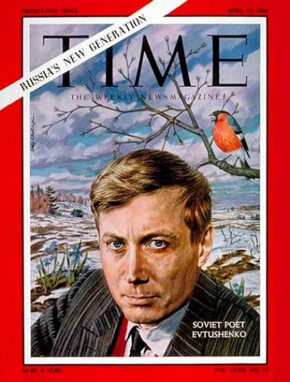 Time - Evgeny Evtushenko - Apr. 13, 1962 - Russia - Poets - Books