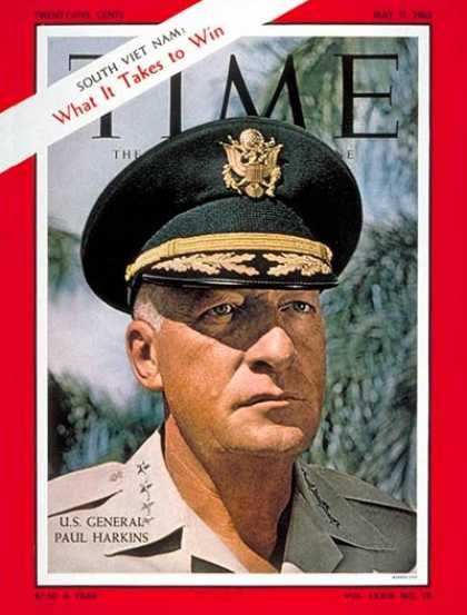 Time - General Paul Harkins - May 11, 1962 - Vietnam War - Generals - Vietnam