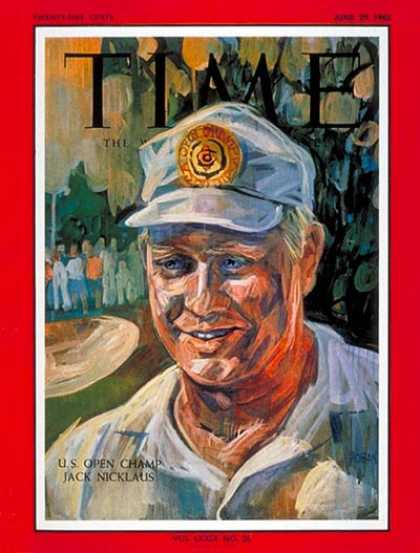 Time - Jack Nicklaus - June 29, 1962 - Golf - Sports