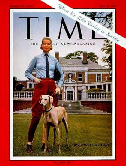 Time - Mrs. Winston Guest - July 20, 1962 - Style - Dogs - Society