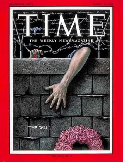 Time - Berlin Wall - Aug. 31, 1962 - Germany - Cold War - Communism