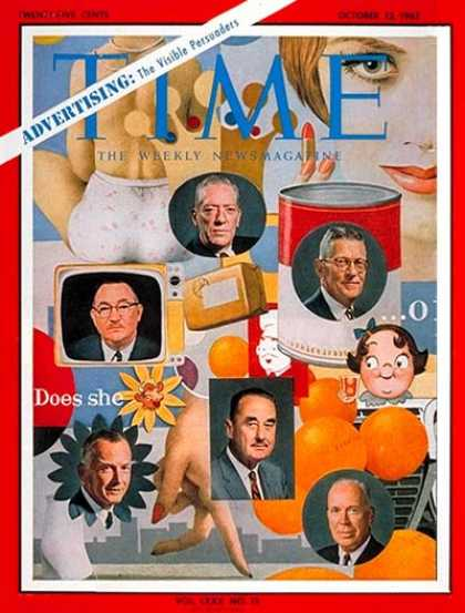 Time - U.S. Advertising Executives - Oct. 12, 1962 - Television - Advertising - Busines