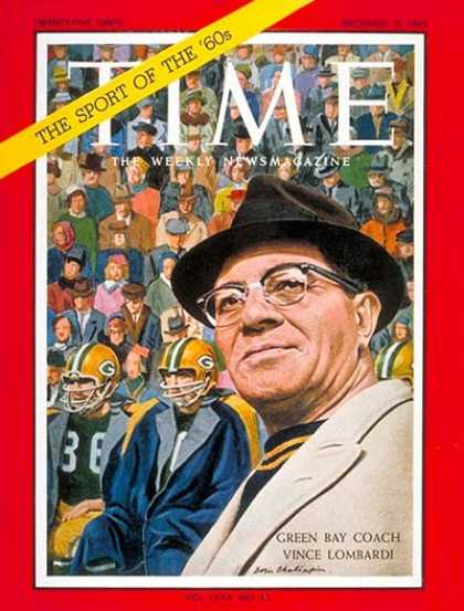 Time - Vince Lombardi - Dec. 21, 1962 - Football - Coaches - Wisconsin - Sports