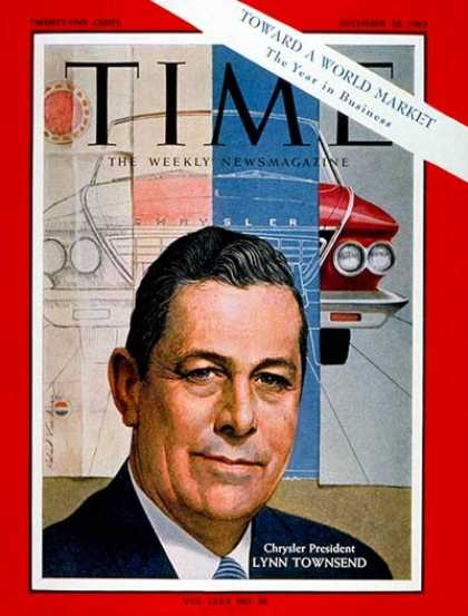 Time - Lynn A. Townsend - Dec. 28, 1962 - Cars - Chrysler - Automotive Industry - Trans