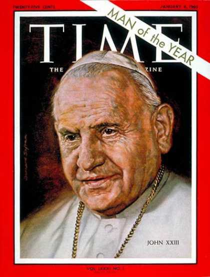 Time - Pope John XXIII, Person of the Year - Jan. 4, 1963 - Person of the Year - Religi
