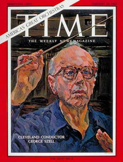 Time - George Szell - Feb. 22, 1963 - Conductors - Classical Music - Music