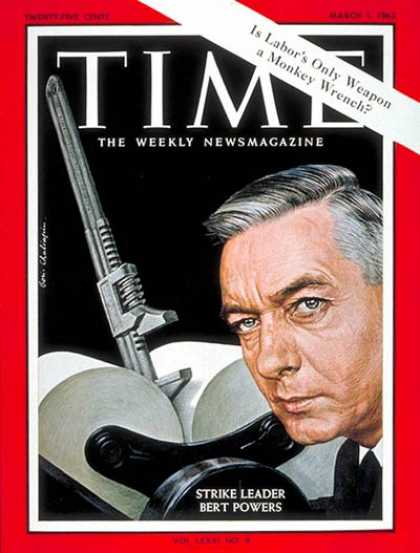 Time - Bertram A. Powers - Mar. 1, 1963 - Publishing - Labor Unions