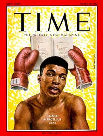 Time - Cassius Clay - Mar. 22, 1963 - Boxing - Most Popular - Sports