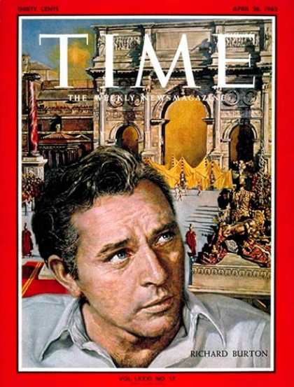 Time - Richard Burton - Apr. 26, 1963 - Theater - Movies - Actors