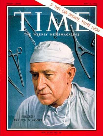Time - Dr. Francis D. Moore - May 3, 1963 - Health & Medicine