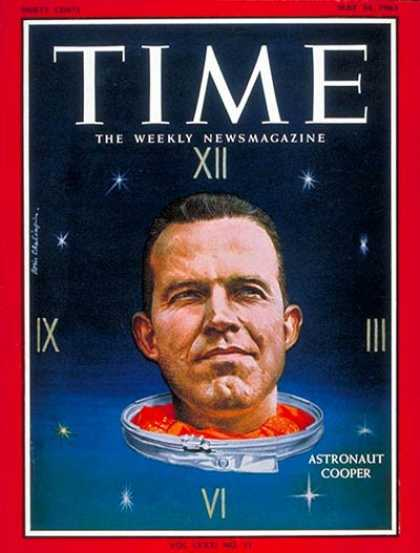 Time - Gordon Cooper - May 24, 1963 - NASA - Astronauts - Space Exploration