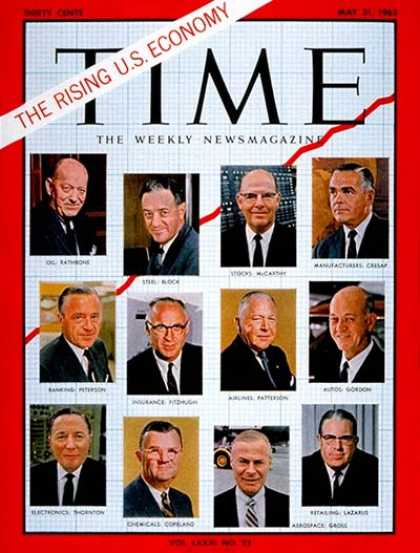 Time - 12 Top U.S. Executives - May 31, 1963 - Economy - Finance - Wall Street - Busine