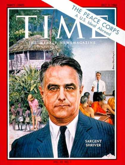 Time - Sargent Shriver - July 5, 1963 - Peace Corps - Kennedys - Nonprofit Organization