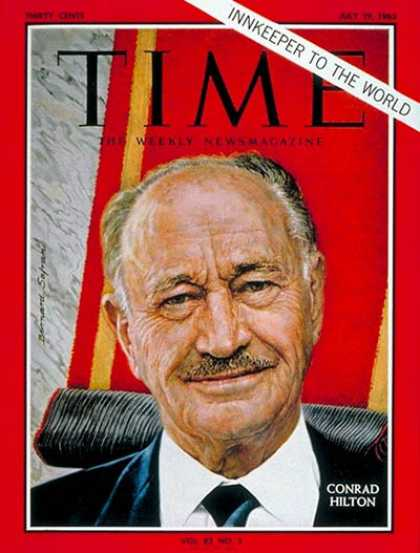 Time - Conrad N. Hilton - July 19, 1963 - Hotels - Travel - Business