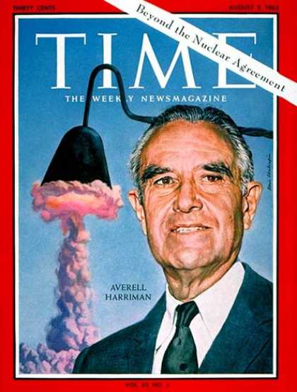 Time - W. Averell Harriman - Aug. 2, 1963 - Governors - New York - Politics