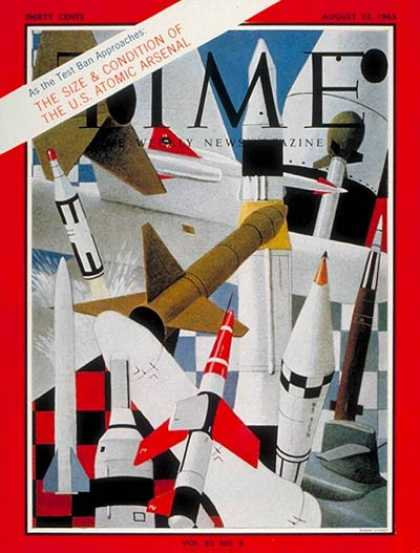 Time - U.S. Atomic Arsenal - Aug. 23, 1963 - Nuclear Weapons - Atomic Bomb - Weapons -