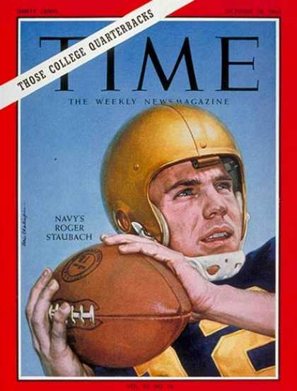 Time - Roger Staubach - Oct. 18, 1963 - Football - Navy - Sports