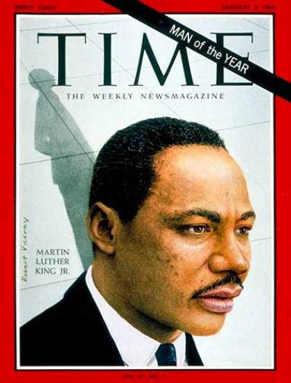 Time - Martin Luther King Jr., Man of the Year - Jan. 3, 1964 - Martin Luther King - Pe
