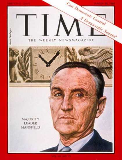 Time - Mike Mansfield - Mar. 20, 1964 - Politics