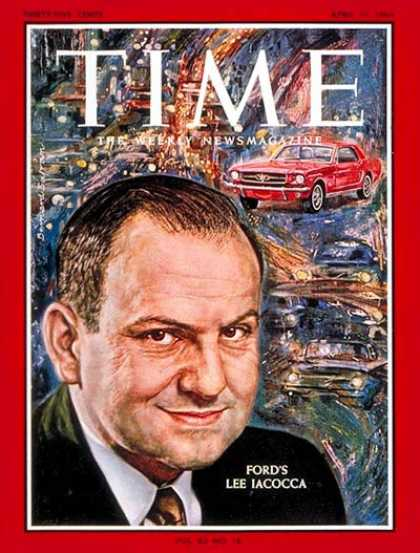 Time - Lee Iacocca - Apr. 17, 1964 - Ford Motor Co. - Cars - Automotive Industry - Tran