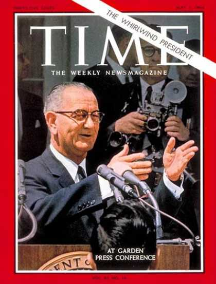Time - Lyndon B. Johnson - May 1, 1964 - U.S. Presidents - Politics