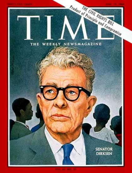 Time - Sen. Everett Dirksen - June 19, 1964 - Everett Dirksen - Congress - Senators - P
