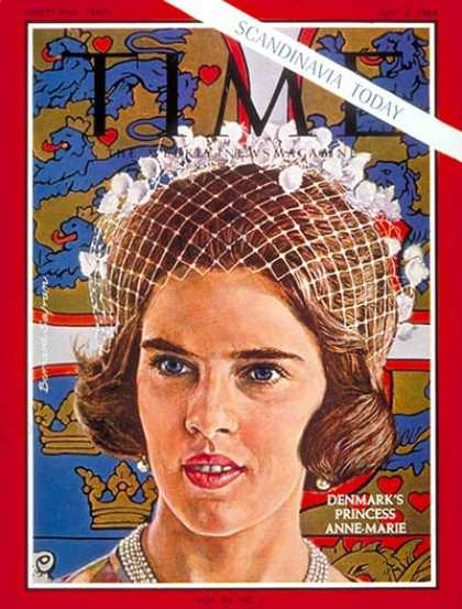 Time - Princess Anne-Marie - July 3, 1964 - Royalty - Denmark - Women