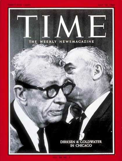 Time - Everett Dirksen, Barry Goldwater - July 10, 1964 - Barry Goldwater - Everett Dir
