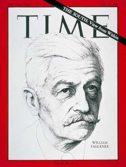Time - William Faulkner - July 17, 1964 - Books