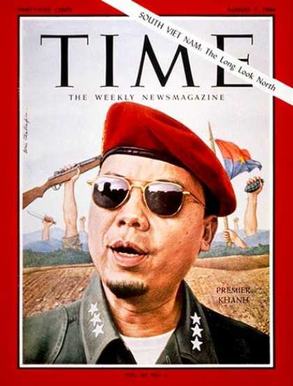 Time - Maj. Gen. Khanh - Aug. 7, 1964 - Vietnam War - Vietnam