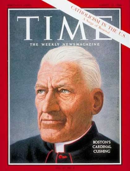 Time - Cardinal Cushing - Aug. 21, 1964 - Religion - Christianity - Cardinals
