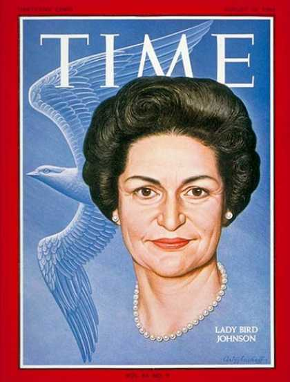 Time - Lady Bird Johnson - Aug. 28, 1964 - First Ladies