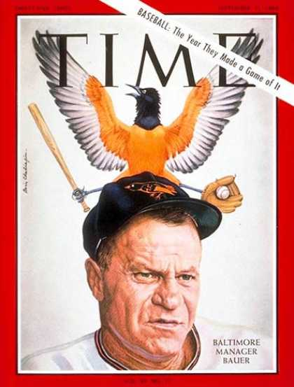 Time - Hank Bauer - Sep. 11, 1964 - Baseball - Baltimore - Sports
