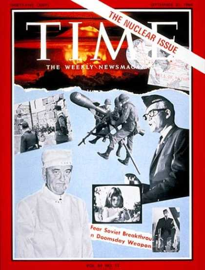 Time - The Nuclear Issue - Sep. 25, 1964 - Nuclear Weapons - Weapons
