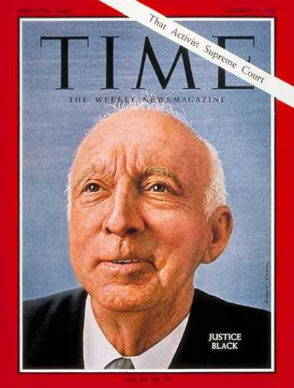 Time - Hugo Black - Oct. 9, 1964 - Supreme Court - Law