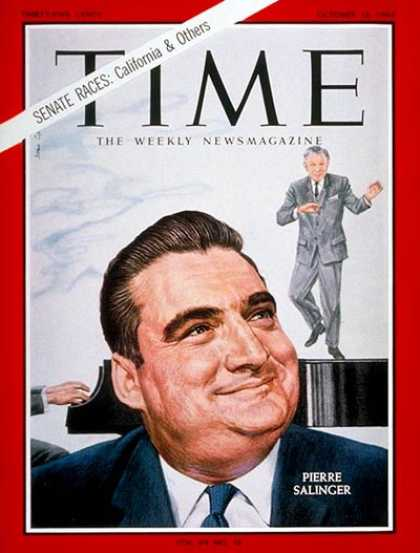 Time - Pierre Salinger - Oct. 16, 1964 - Politics