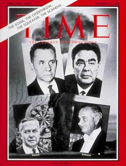 Time - Kosygin, Brezhnev, Wilson, Johnson - Oct. 23, 1964 - Lyndon B. Johnson - Leonid