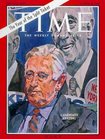 Time - Sen. Kenneth Keating - Oct. 30, 1964 - Congress - Senators - Politics