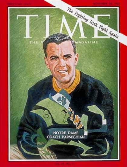 Time - Ara Parseghian - Nov. 20, 1964 - Football - Notre Dame - Sports