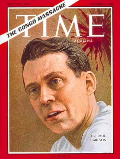 Time - Dr. Paul Carlson - Dec. 4, 1964 - Congo - Africa