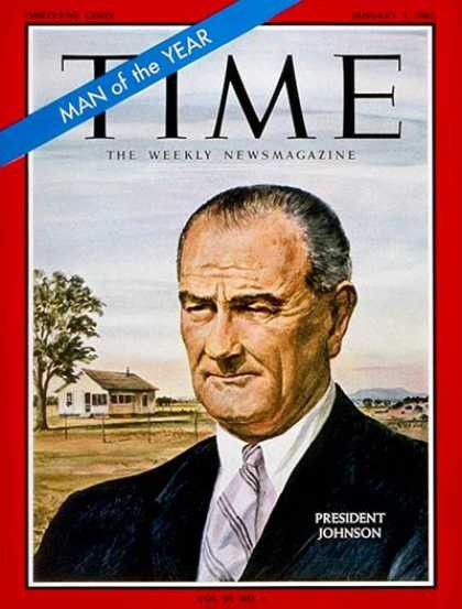 Time - Lyndon B. Johnson, Man of the Year - Jan. 1, 1965 - Lyndon B. Johnson - Person o