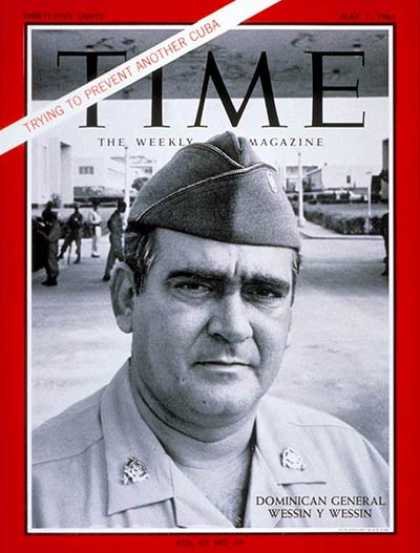 Time - General Wessin Wessin - May 7, 1965 - Dominica - Generals