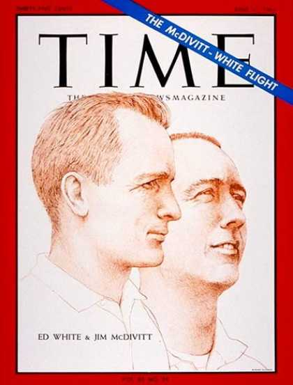 Time - Ed White and Jim McDivitt - June 11, 1965 - Astronauts - NASA - Space Exploratio