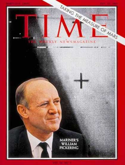 Time - William Pickering - July 23, 1965 - NASA - Aviation - Physicists - Science & Tec